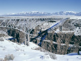 Bridge Over Rio Grande Gorge Near Taos, New Mexico, USA Photographic Print by Walter Rawlings
