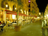 Outdoor Restaurants at Night in Downtown Area of Central District, Beirut, Lebanon, Middle East Photographic Print by Gavin Hellier