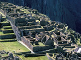 Ruins of Inca City in Morning Light, Machu Picchu, Urubamba Province, Peru Photographic Print by Walter Rawlings