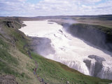 Gullfoss, Southwest Area, Iceland, Polar Regions Photographic Print by Geoff Renner