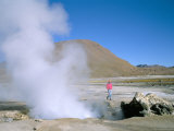 El Tatio Geysers and Fumaroles in the Andes at 4,300M, Northern Part of Chile, Chile, South America Photographic Print by Geoff Renner