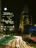 Kurfurstendam and Kaiser Wilhelm Memorial Church, Berlin, Germany Photographic Print by Gavin Hellier