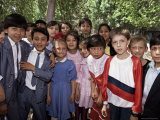 School Children from Various Ethnic Backgrounds, Samarkand, Uzbekistan, Central Asia Photographic Print by Gavin Hellier