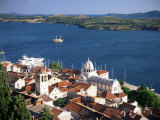 View Over the Old Town and Cathedral of St. Jacob, Sibenik, Knin Region, Dalmatia, Croatia Photographic Print by Gavin Hellier