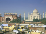Taj Mahal, Unesco World Heritage Site, Agra, Uttar Pradesh State, India Photographic Print by Gavin Hellier