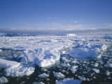 Sea Ice and Iceberg, Antarctica, Polar Regions Photographic Print by Geoff Renner