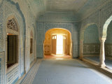 Ornate Passageway to Open Door, Samode Palace, Jaipur, Rajasthan State, India Photographic Print by Gavin Hellier