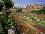 Sunken Gardens, Hampton Court Palace, Greater London, England, United Kingdom Photographic Print by Walter Rawlings