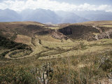 Interlinking Terraces in Natural Landform, Cuzco, Moray, Peru, South America Photographic Print by Walter Rawlings