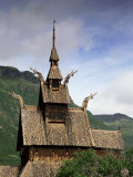 Best Preserved 12th Century Stave Church in Norway, Borgund Stave Church, Western Fjords, Norway Photographic Print by Gavin Hellier