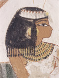Wall Painting of Daughter of Nakht from Hunt Scene in the Tomb of Nakht Photographic Print by Walter Rawlings