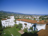 View Over Courthouse Towards the Ocean, Santa Barbara, California, USA Photographic Print by Adrian Neville