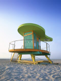 Lifeguard Hut in Art Deco Style, South Beach, Miami Beach, Miami, Florida, USA Photographic Print by Gavin Hellier