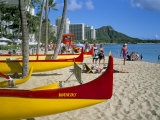 Waikiki Beach, Honolulu, Oahu, Hawaiian Islands, United States of America, Pacific, North America Photographic Print by Geoff Renner