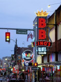 Beale Street at Night, Memphis, Tennessee, USA Photographic Print by Gavin Hellier