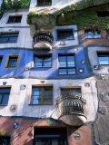 The Hundertwasser House, Vienna, Austria Fotoprint van Geoff Renner