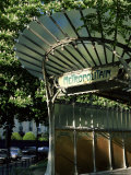 Metropolitain Station Entrance, Paris, France Photographic Print by Gavin Hellier