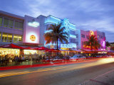 Art Deco District at Dusk, Ocean Drive, Miami Beach, Miami, Florida, USA Photographic Print by Gavin Hellier