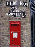 Tiled Street Name and Postbox, Hampstead, London, England, United Kingdom Photographic Print by Walter Rawlings