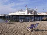Palace Pier, Brighton, East Sussex, England, United Kingdom Fotografisk tryk af Walter Rawlings