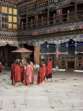 Novice Monks in Rimpong Dzong (Monastery), Paro, Bhutan Photographic Print by Sybil Sassoon