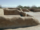 Caliche Walls Made from Limy Subsoil, Not Adobe, Dating from 14th Century, Hohokam Indians Photographic Print by Walter Rawlings