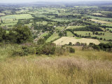 The Vale of Evesham from the Main Ridge of the Malvern Hills, Worcestershire, England Photographic Print by David Hughes