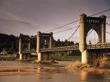 Suspension Bridge Across the River Loire, Langeais, Indre-Et-Loire, Centre, France Photographic Print by David Hughes