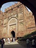 Amar Singh Gate, Red Fort, Agra, Unesco World Heritage Site, Uttar Pradesh, India- Photographic Print by G Richardson