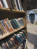Bookstall in Grounds of Hay on Wye Castle, Powys, Mid-Wales, Wales, United Kingdom Photographic Print by David Hughes