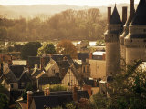 Chateau and Town, Langeais, Indre-Et-Loire, Loire Valley, Centre, France Photographic Print by David Hughes