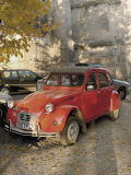 Citroen Diane Parked Outside Church, St. Omer, Pas De Calais, France Photographic Print by David Hughes