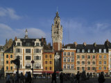 Flemish Buildings in the Grand Place Tower in Centre, Lille, France Photographic Print by David Hughes