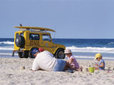 Beach, Surfers Paradise, Gold Coast, Queensland, Australia Photographic Print by James Green