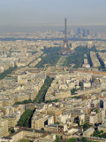 View of the City from Montparnasse Tower, Paris, France Photographic Print by G Richardson