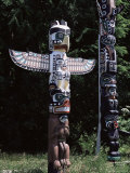 Totem, Stanley Park, Vancouver, British Columbia, Canada Photographic Print by G Richardson