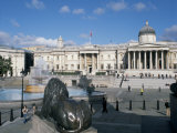 National Gallery and Trafalgar Square, London, England, United Kingdom Photographic Print by G Richardson