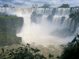Iguacu (Iguazu) Falls, Border of Brazil and Argentina, South America Photographic Print by G Richardson