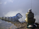Fisherman, River Avon, Pershore, Worcestershire, England, United Kingdom Photographic Print by David Hughes