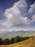 White Clouds Over Mountains, View from Col d'Aspin, Haute-Pyrenees, Midi-Pyrenees, France Photographic Print by David Hughes