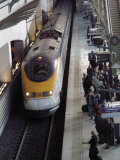 Eurostar Train Arriving at Lille Europe Station, Lille, Nord, France Photographic Print by David Hughes