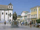 Cathedral Square, Salvador, Bahia, Brazil, South America Photographic Print by G Richardson