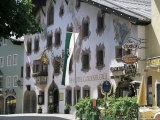 Hotel Exterior, Kitzbuhel, Tirol (Tyrol), Austria Photographic Print by G Richardson