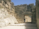 Lion Gate, Mycenae, Unesco World Heritage Site, Argolis, Peloponnese, Greece Photographic Print by G Richardson