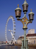 London Eye and County Hall Beside the River Thames, London, England, United Kingdom Photographic Print by David Hughes