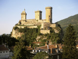 Chateau, Foix, Ariege, Midi-Pyrenees, France Photographic Print by David Hughes