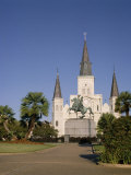 Spires of Christian Cathedral, St. Louis Cathedral, New Orleans, Louisiana, USA Photographic Print by G Richardson
