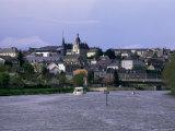 Chateau Gonier, River Mayenne, Western Loire, Pays De La Loire, France Photographic Print by David Hughes