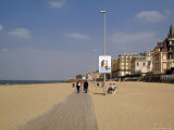 The Planche, Broadwalk and Beach, Corniche, Trouville, Calvados, Cote Fleurie, Normandy, France Photographic Print by David Hughes