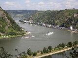 River Rhine Gorge from Loreley (Lorelei), Rhineland-Palatinate, Germany Photographic Print by G Richardson